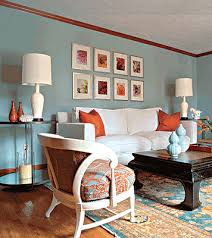 blue and orange room bright bold beautiful 3 ways to color your living room design