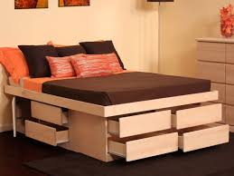 awesome bed frames diy base queen bed frame with storage the home redesign