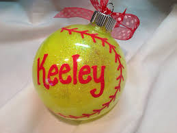 softball ornaments princess decor
