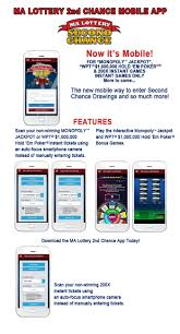 ma lottery 2nd chance mobile app ma state lottery