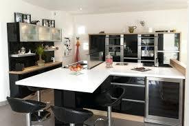 cuisine moderne blanche et deco cuisine noir decoration cuisine mu00e9langez le noir le blanc