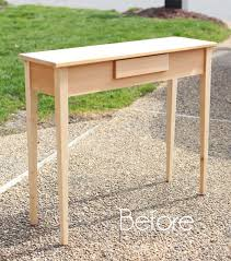unfinished wood sofa table unfinished wood console table makeover confessions of a serial