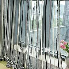 Curtains And Sheers And White Striped Modern Affordable Discount Sheer Curtains