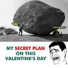 Me On Valentines Day Meme - me love birds my secret plan on this valentine s day love meme on