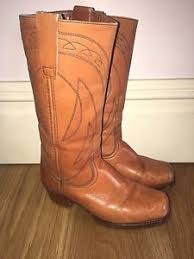 cowboy boots uk leather mens brown style leather 70s cowboy boots uk 7 8 ebay