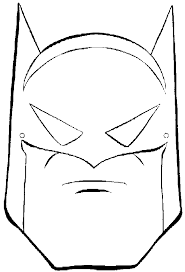 coloring pages printable batman mask super heroes coloring pages