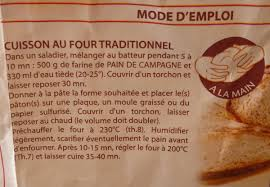living the life in saint aignan pain de campagne in a bag