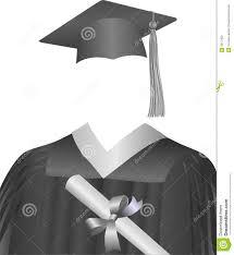 black graduation cap and gown graduate cap gown diploma stock vector illustration of black