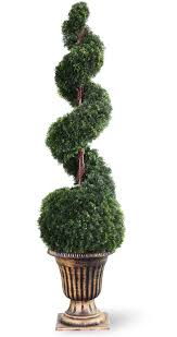 national tree co spiral cedar topiarytree with in urn