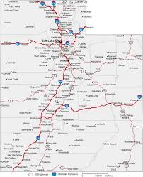 Map Of Utah by Utah State Road Map With Census Information