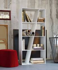 modern white bookshelf interior design ideas