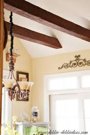 Fake Ceiling Beams by Faux Wood Beams Made Of Foam And Painted Must Do This Home