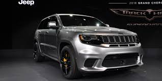 jeep grand cherokee trailhawk black jeep grand cherokee trackhawk is fastest production suv in the world