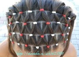 hairstyles using rubber bands elastic christmas tree hairstyle christmas from princess