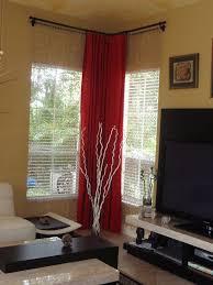 Big Window Curtains Captivating Big Window Curtains And Best 25 Corner Window Curtains