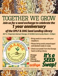 community seed swap seed lending library 1 year anniversary