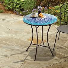 round bistro table outdoor awesome mosaic bistro table of outdoor in blue bed bath beyond