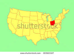 map usa ohio ohio state usa vector map isolated stock vector 303923327