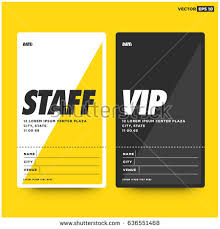 staff vip entry id card design stock vector 636551468 shutterstock