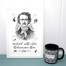 annabel lee by edgar allan poe edgar allan poe book print unframed a4 annabel lee literary quote