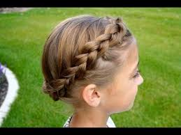 cute girl hairstyles how to french braid the crown carousel braid updos cute girls hairstyles youtube