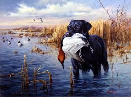 dogs in action is another great hunting dog print from james killen this black labrador