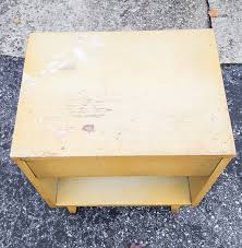 Retro Nightstand Retro Nightstand Makeover Decoart Satin Enamels Honey Gold