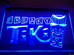 lm092 b freaky tiki bar mask pub beer neon light sign led light