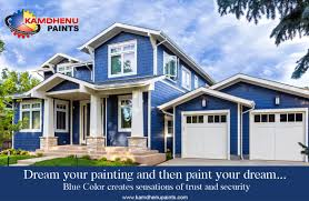 an exterior wall paint colour design from kamdhenu interior and