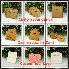customized jewelry paper card pvc transparent earring necklace