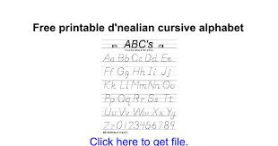 free printable d u0027nealian cursive alphabet google docs