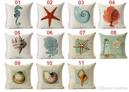 Factory Direct Home Decor Cheap Pillow Cushion Cover Buy by 11 Styles Marine Biology Vintage Style Cushion Covers Conch Shell