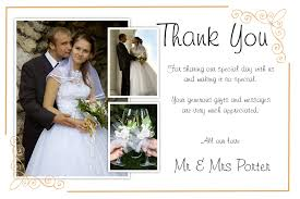 wedding thank yous wording best sle wedding thank you cards with photo modern designing