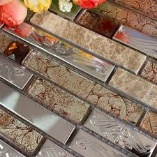 stainless steel tile backsplash ssmt273 kitchen mosaic glass wall