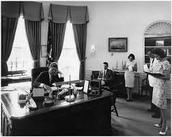 white house oval office by telephone president kennedy