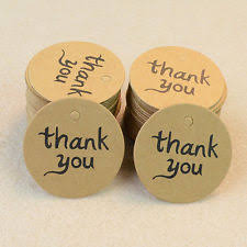 thank you tags 100pcs kraft paper hang tags wedding party favor label thank you
