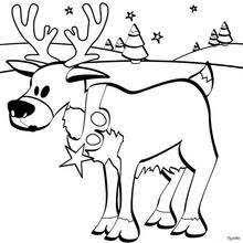 imagenes animadas de renos de navidad dibujos para colorear reno de navidad es hellokids com