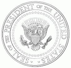 seal of the president of the united states of america coloring