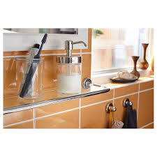 where to buy glass shelves for kitchen cabinets voxnan glass shelf chrome effect 26 3 8x5 1 8 ikea