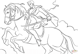 simon bolivar on a horse coloring page free printable coloring pages