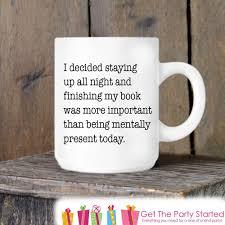 Cool Mugs Canada Coffee Mug Reading All Night Ceramic Mug Book Lover Mug Coffee