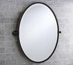 Bathroom Oval Mirrors by Kensington Pivot Oval Mirror Pottery Barn Bathrooms