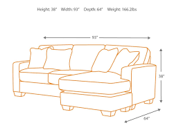 Couch Depth Amazon Com Ashley Hodan 7970018 93 Inch Sofa Chaise With Pillows