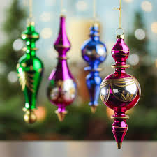 toned vintage glass finial ornaments ornaments