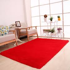 rectangle shaggy fluffy rug anti skid area rug dining room carpet