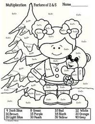 winter themed printable multiplication worksheets snow bunny