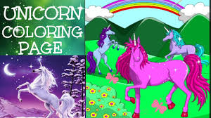 unicorn coloring page learn colors for kids coloring pages for
