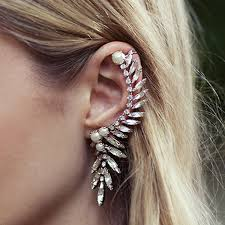 ear cuff buy via mazzini silver moon ear cuff wrap earring for women right
