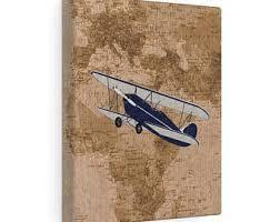 Vintage Airplane Nursery Decor Airplane Nursery Art Etsy