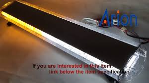 warning light bar amber 88 led 88w car truck beacon work light bar emergency strobe lights